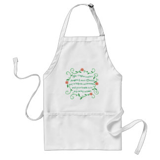 Help our health and environment adult apron