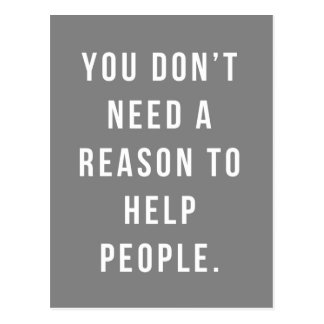 Help People Quote Postcard