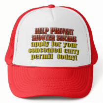 HELP PREVENT SHOOTER SUICIDES TRUCKER HAT