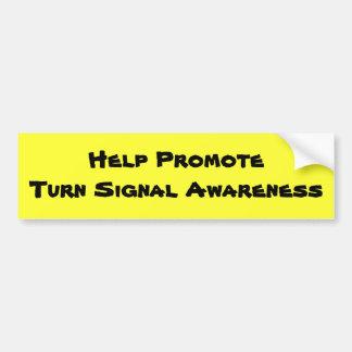 Help PromoteTurn Signal Awareness Car Bumper Sticker
