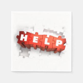 Help Puzzle Pieces Paper Napkins