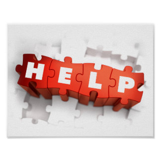 Help Puzzle Pieces Poster