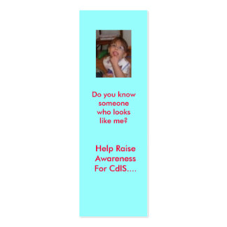 Help Raise Awareness F... Double-Sided Mini Business Cards (Pack Of 20)