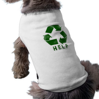 Help Recycle (Green) Dog Tee Shirt