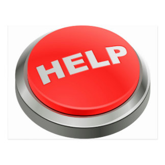 Help - Red Button Postcard