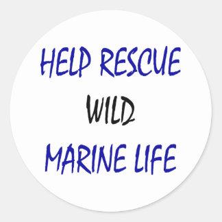 Help Rescue Wild Marine Life Sticker