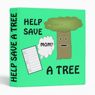 Help save a tree binder