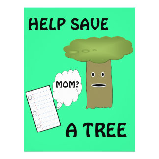 Help save a tree flyer