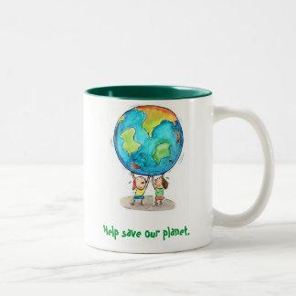 Help save our planet. Mug