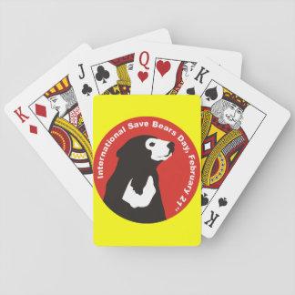 help save sun bears deck of cards