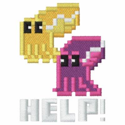 'Help' Save the Cuttlefish Cute Pixel Art Hoodie