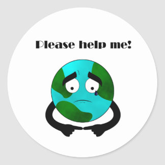 Help save the environment. classic round sticker