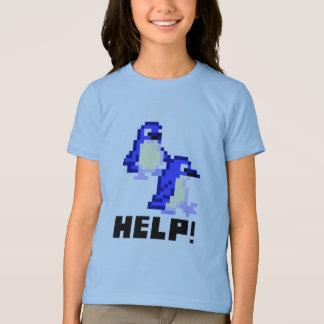 Help! Save the Penguins Cute Pixel Art Kids Shirt
