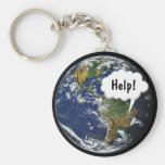 HELP! Save the Planet Key Chain