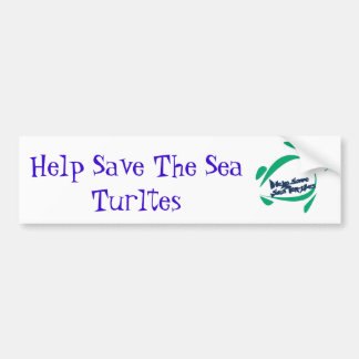Help Save The Sea Turltes Bumper Sticker