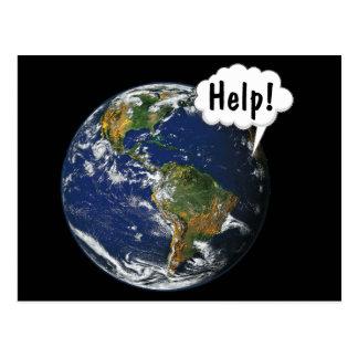 HELP! Save the World Postcard