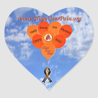 Help Solve the Mystery CRPS RSD Balloons Heart Sticker