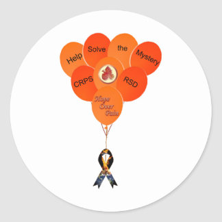 Help Solve the Mystery CRPS RSD Balloons  HOP Blaz Classic Round Sticker