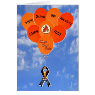 Help Solve the Mystery CRPS RSD Balloons Note Card