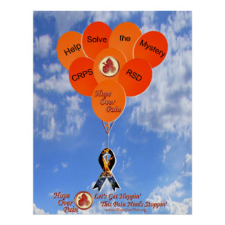 Help Solve the Mystery CRPS/RSD Balloons Poster