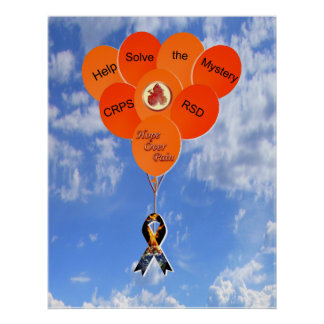 Help Solve the Mystery CRPS RSD Balloons Poster