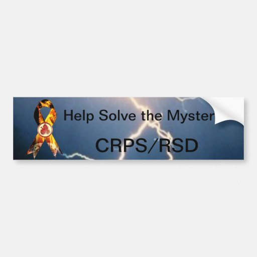 Help Solve the Mystery CRPS/RSD Blazing Ribbon Car Bumper Sticker
