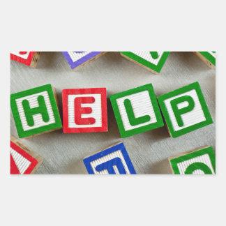 Help Rectangular Sticker