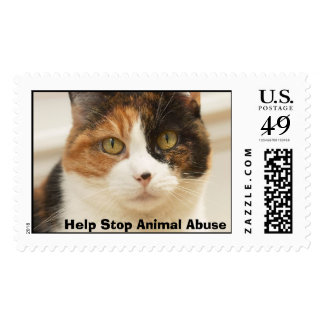 Help Stop Animal Abuse Postage Stamps