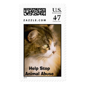 Help Stop Animal Abuse Postage
