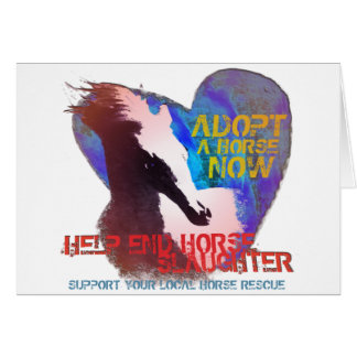 Help Stop Horse Slaughter Card