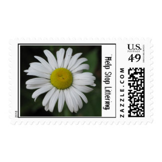 Help Stop Littering (Daisy) Stamp
