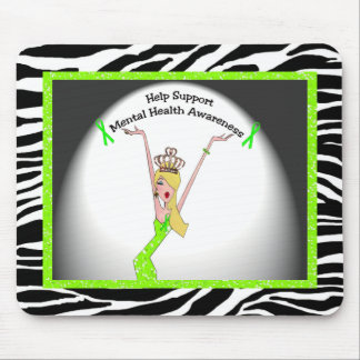 Help Support Mental Health Awareness Diva Mouse Pad