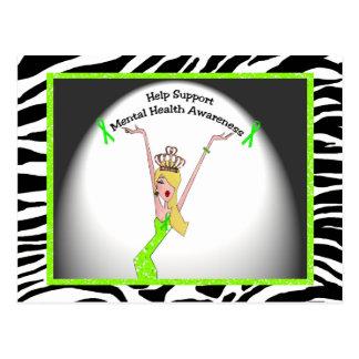 Help Support Mental Health Awareness Diva Postcard