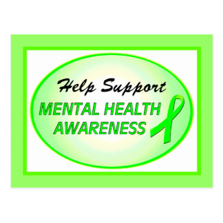 """Help Support Mental Health Awareness"" Postcards"
