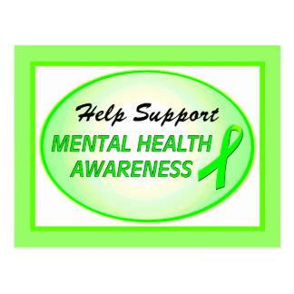"""Help Support Mental Health Awareness"" Postcards"