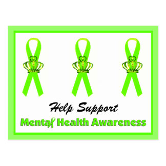 Help Support Mental Health Awareness postcards
