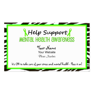 Help Support Mental Health Business Cards