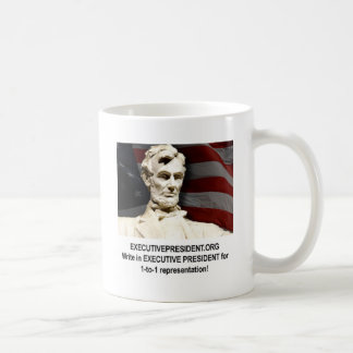Help support & promote our campaign classic white coffee mug