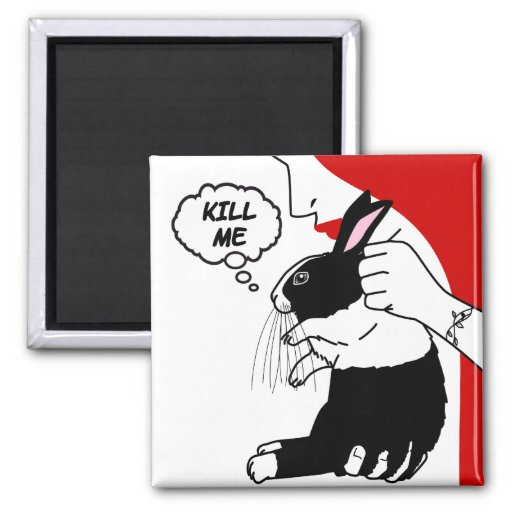 Help the Bunneh 2 Inch Square Magnet