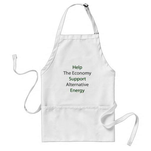 Help The Economy Support Alternative Energy Adult Apron