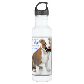 help the fight against animal cruelty  Liberty Bot 24oz Water Bottle