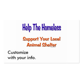 Help The Homeless Double-Sided Standard Business Cards (Pack Of 100)