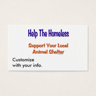 Help The Homeless Business Card