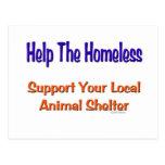 Help The Homeless Postcard