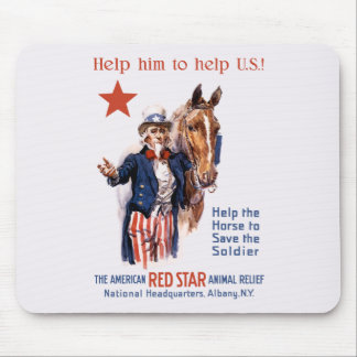 Help The Horse To Save The Soldier -- WWI Mouse Pad