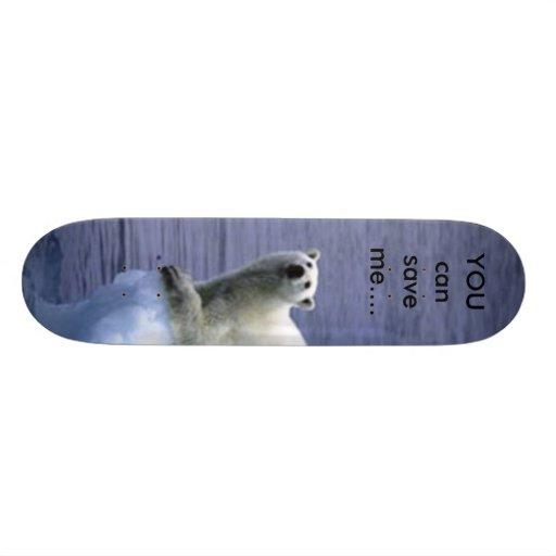 HELP the polarbear Skateboard
