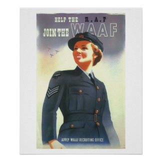Help the R.A.F. Join the WAAF_Propaganda Poster