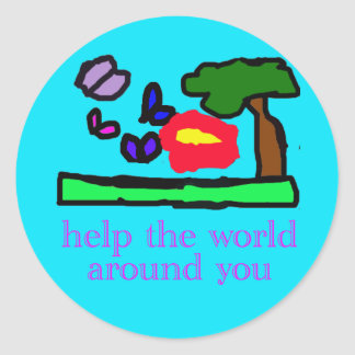help the world sticker sheets