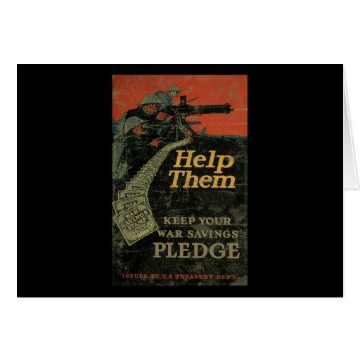 Help Them Keep Your War Savings Pledge Greeting Card