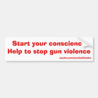 Help to stop gun violence bumper sticker